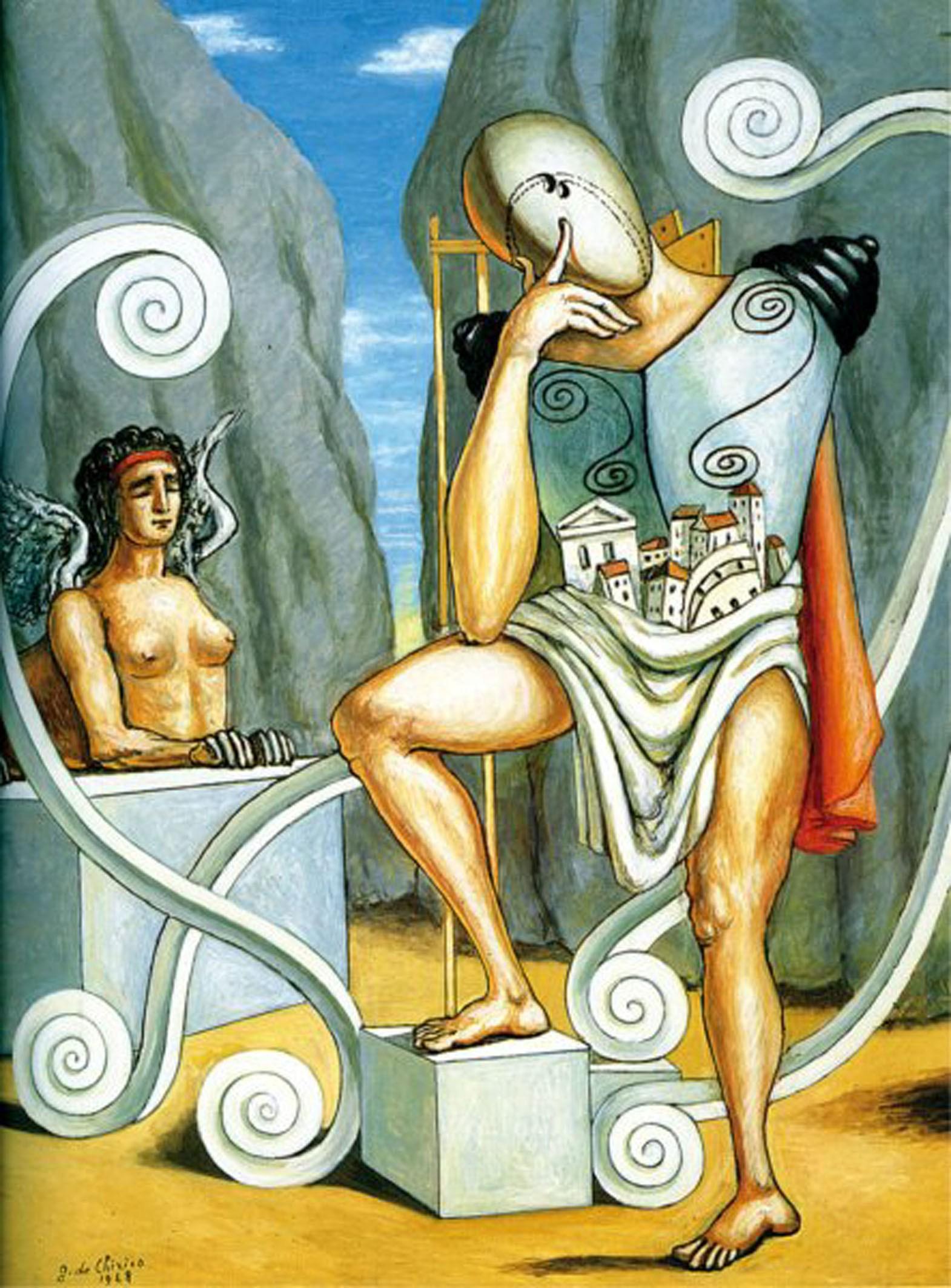 Giorgio de Chirico - Edipo e la sfinge