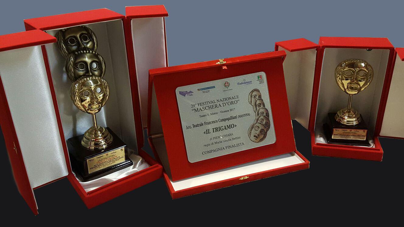 """I premi vinti dall'Accademia Teatrale """"Francesco Campogalliani"""""""