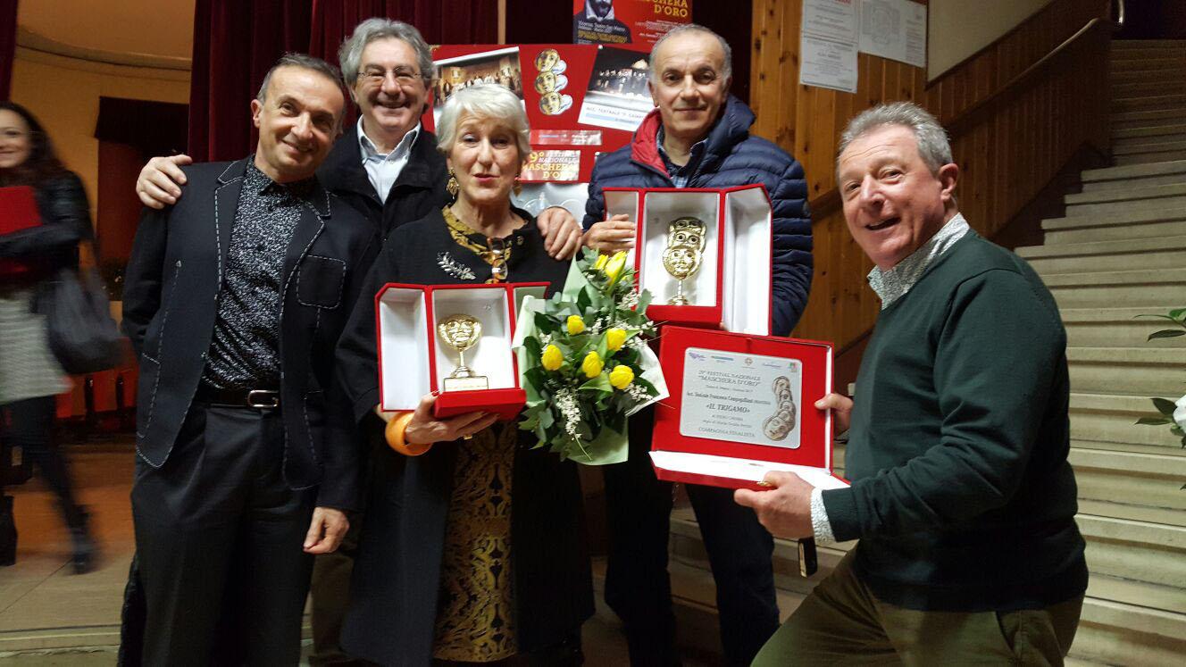 """I primi ottenuti dalla Compagnia Teatrale """"Francesco Campogalliani"""""""""""