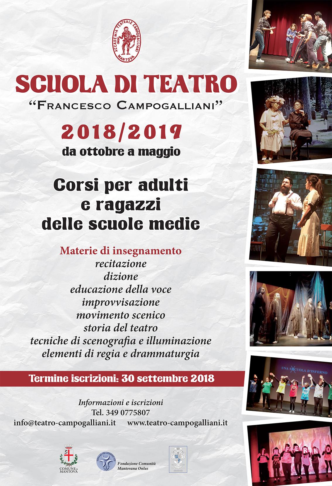 Scuola di teatro 2018-19