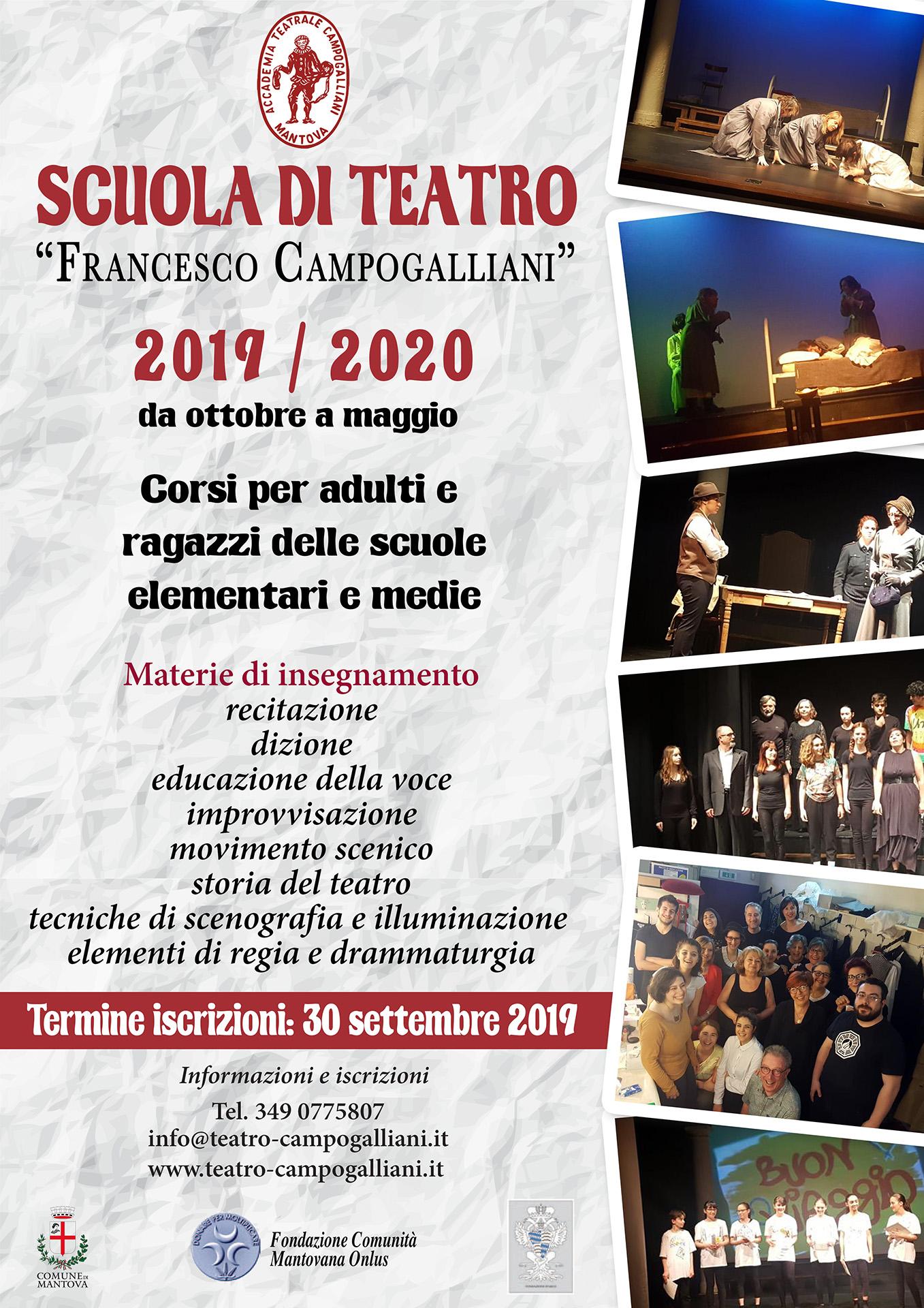 Scuola di teatro 2019-20