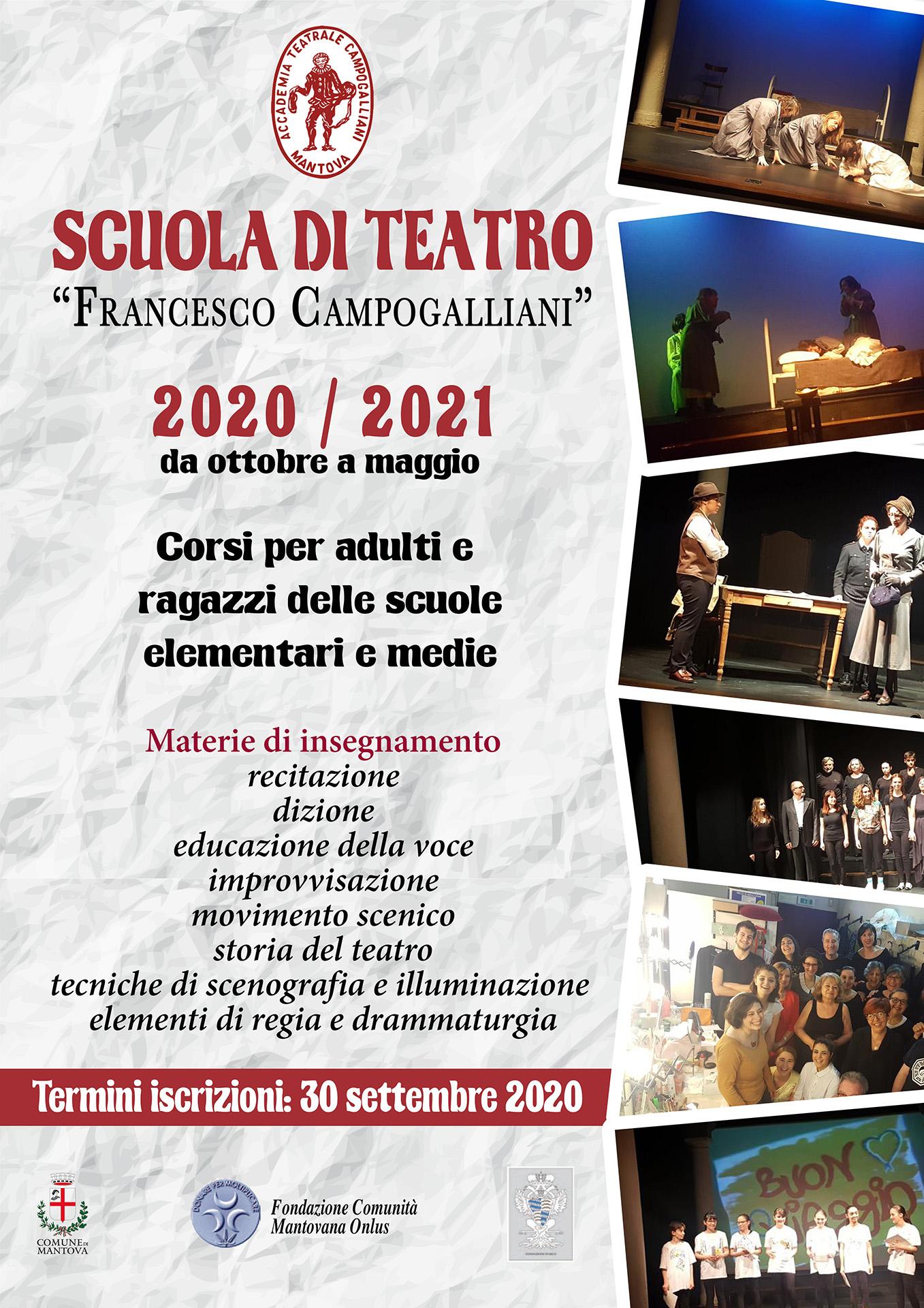 Scuola di teatro 2020-21