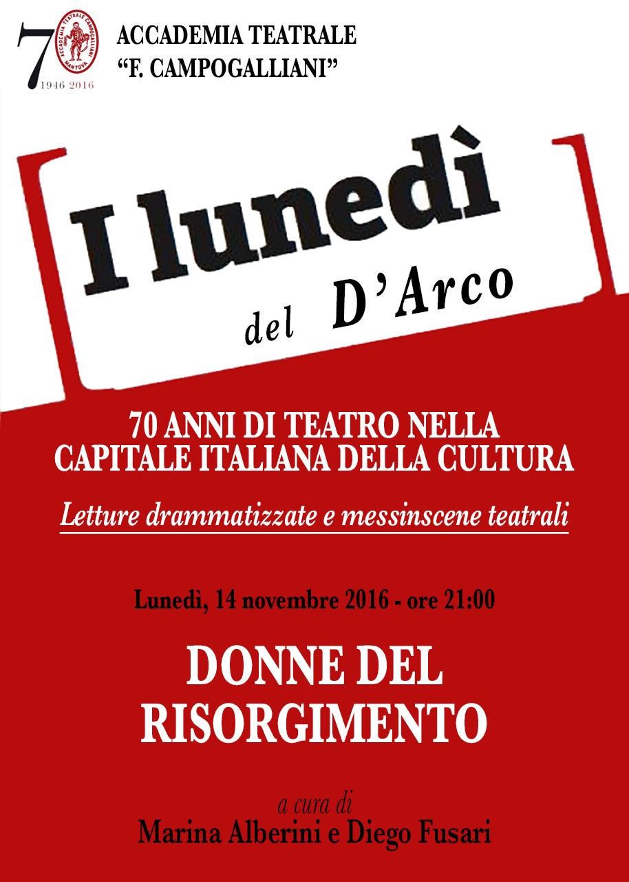LUNEDÌ DEL D'ARCO - Donne del Risorgimento