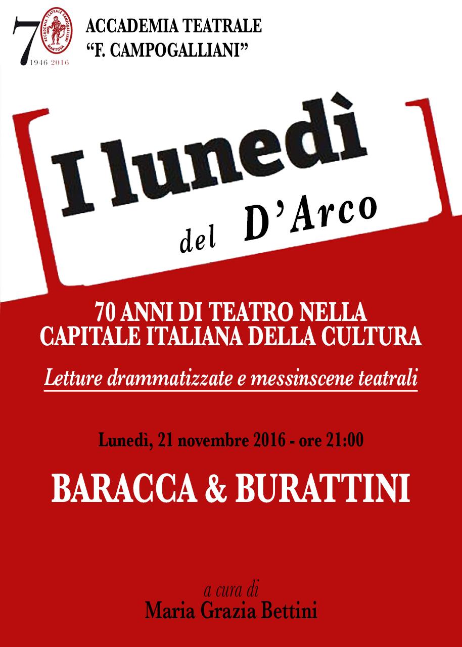 I LUNEDÌ DEL D'ARCO - Baracca & Burattini