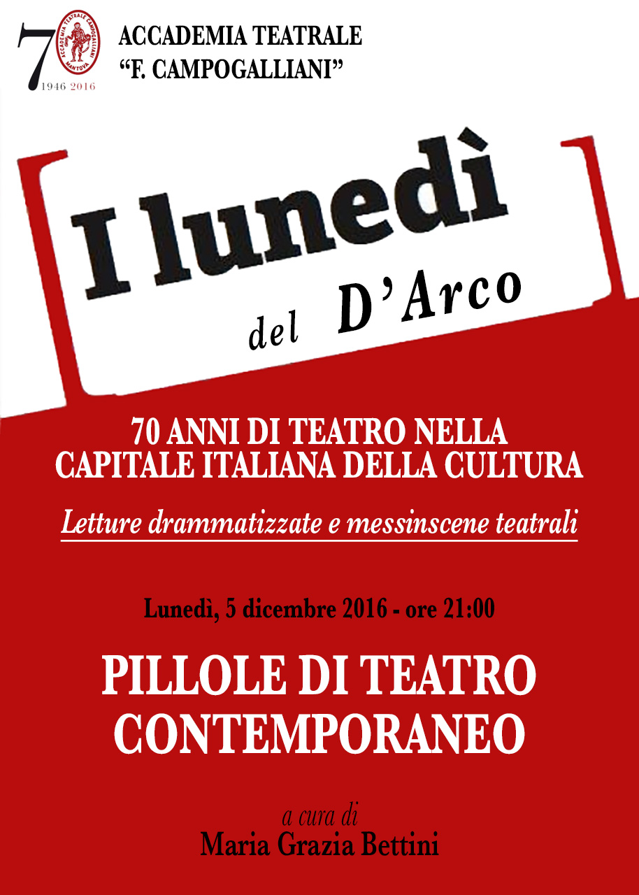 Pillole di teatro contemporaneo