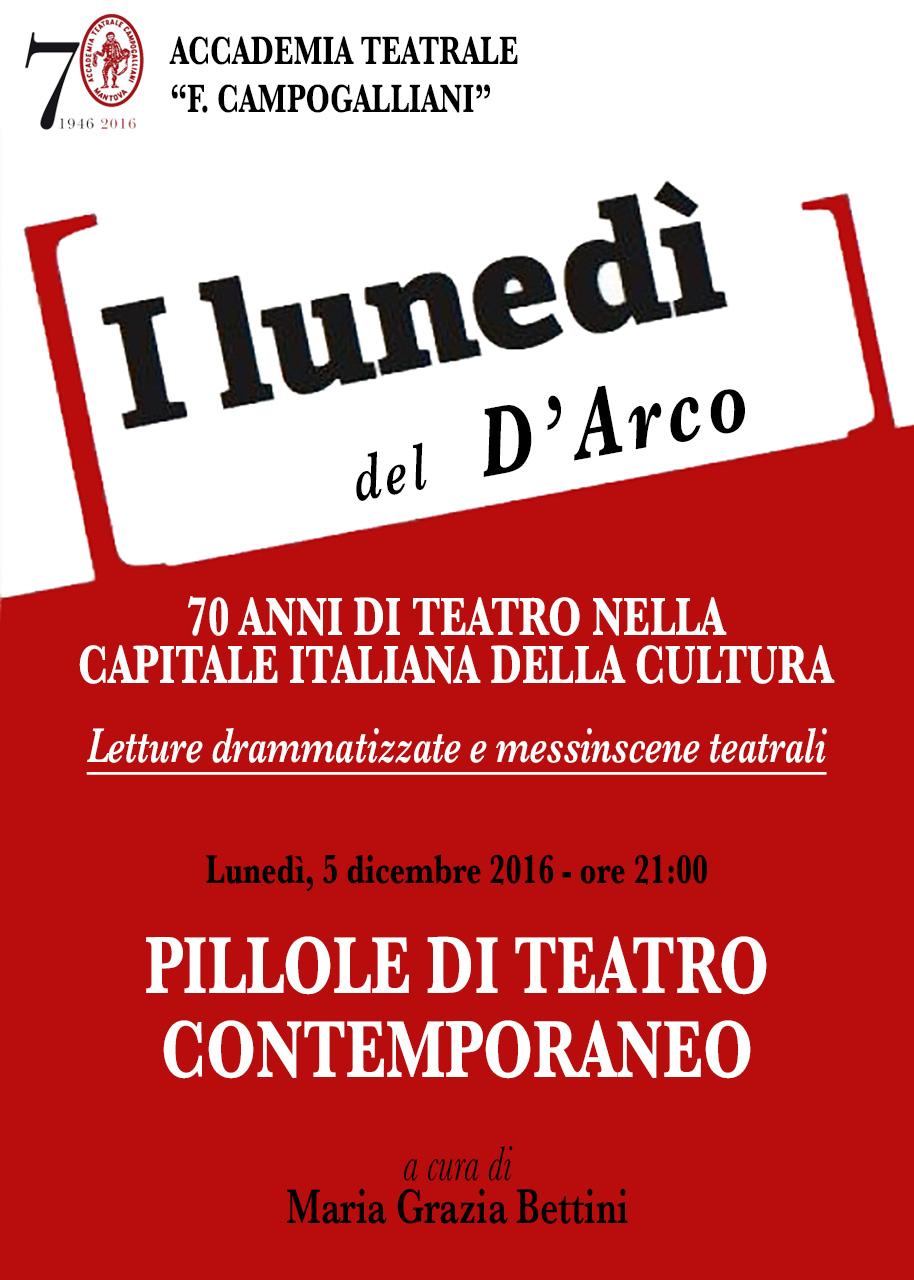 I LUNEDÌ DEL D'ARCO - Pillole di teatro comtemporaneo